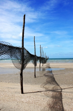 Fishing Net at The beaches of Thailand. photo