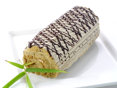 Cake Roll with coco cream photo