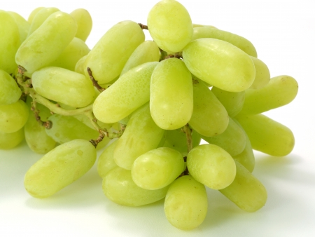 Green grape isolated on white background. photo