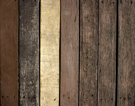 Old damaged wooden planks. photo