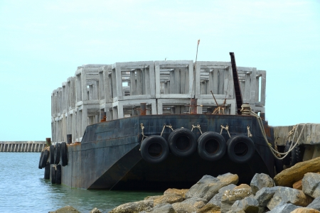 Ship artificial reef. photo