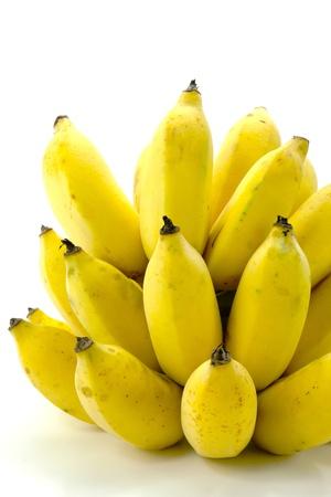 ripe banana on white background. photo
