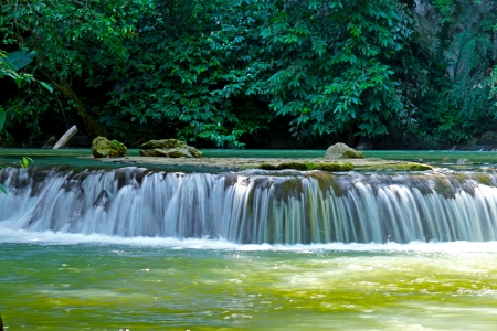 The small waterfall and rocks in Than Bok Khorani National Park, Thailand. Stock Photo - 20969525
