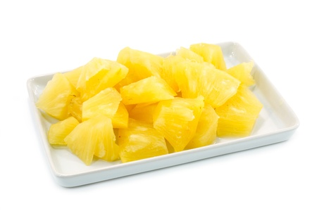 pineapple slice: Pineapple slices in a white background.