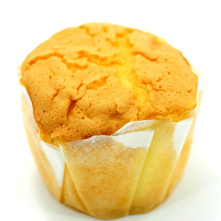 Cupcake on white background. photo