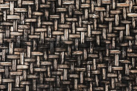 Old bamboo weave background. photo