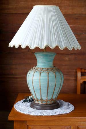 vintage table lamp. photo