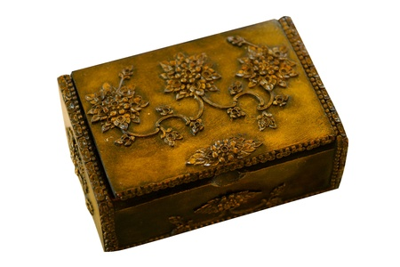 Antique wooden box. photo