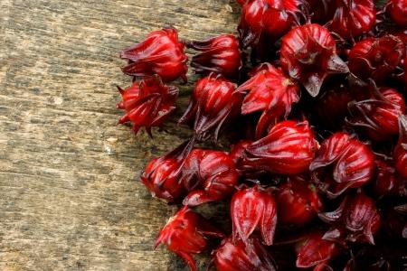 Hibiscus sabdariffa or roselle fruits