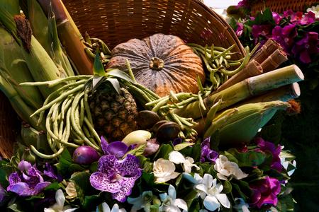 Flower arrangement at the wedding ceremony photo