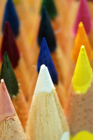 pencils with color shaving photo