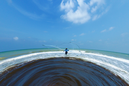 excremental: Casting fishermen in the Black Sea wastewater.