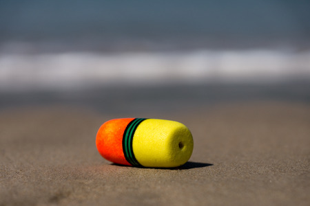 buoys: Colorful Lobster Buoys on the beach