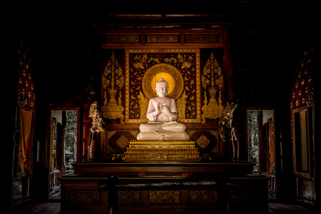 White Buddha in church