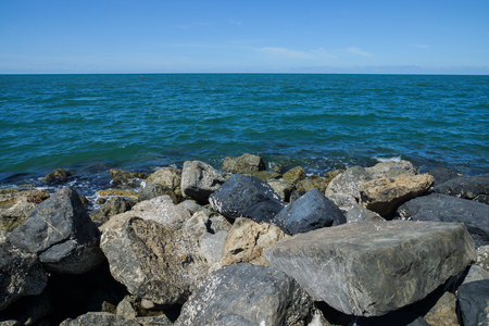 surge: Stone for storm surge protection Stock Photo