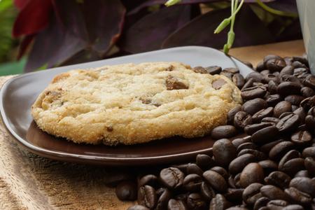 Brocken: Macadamia-Milchschokolade, Schokolade Brocken knusprige Cookies.