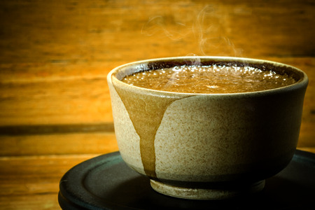 Coffee with Japanese style photo