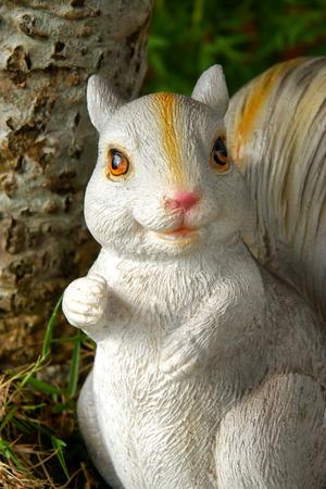 Handmade Squirrel in the garden. photo