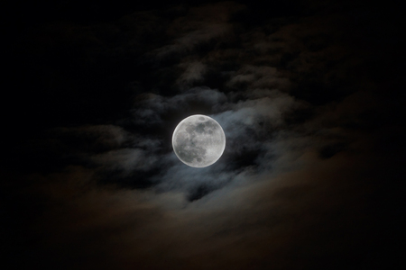 Full Moon On the day of the moon festival in Chinese. photo
