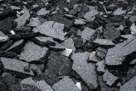 Pile of asphalt road surface photo