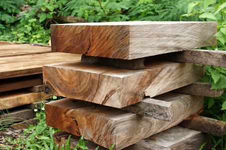 Wood for industrial Stock Photo