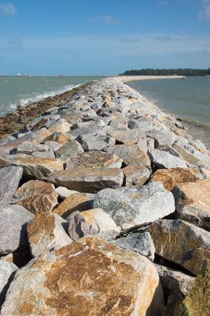 stone road into the sea. photo