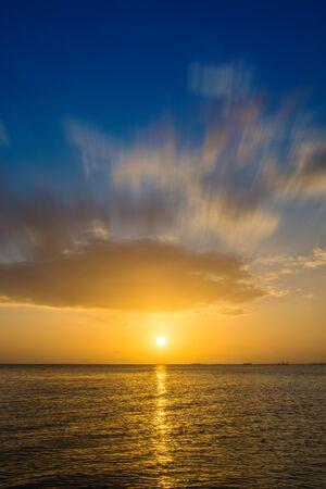 Sunset with beautiful sky photo