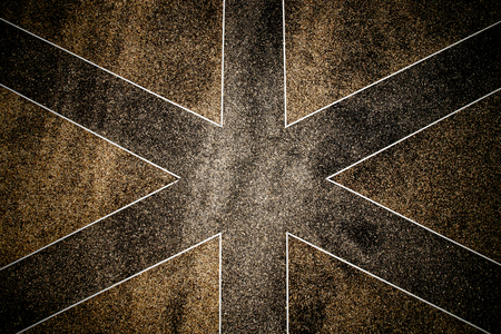 Terrazzo floor in a criss-cross pattern. photo