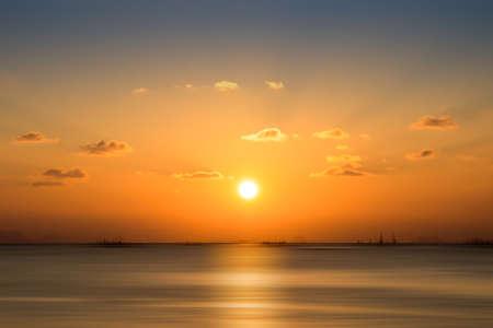 sunset sky, thailand. photo