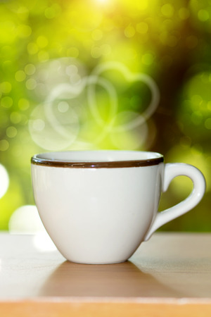 morning coffee with white glass. photo