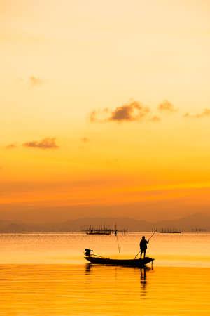 pescador: silueta de los pescadores