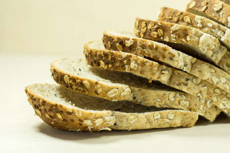 Bread with Flax seed photo