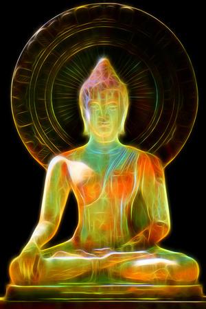 spiritual background: Glow image of Buddha.
