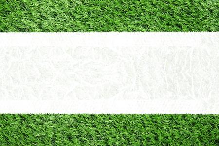 raum weiss: Top-Blick auf Kunstrasen und wei�en Raum Hintergrund.