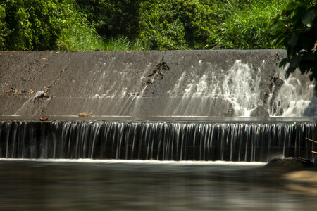 dams: Small Hydroelectric dams in the forest. Stock Photo