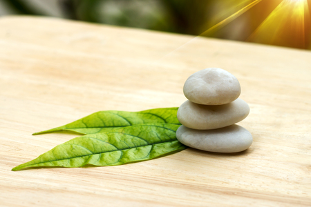 purity: close-up of white stones. Stock Photo
