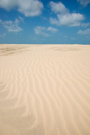 aridness: Lines in the sand of a beach. Stock Photo
