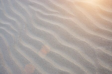 Sand lines on the beach with sunlight.