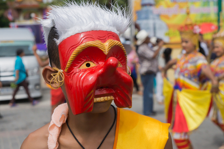 manora: NAKORN SRI THAMMARAT, THAILAND- October 11: Nora Show in religious ceremony, Native Art of Thailand on October 11, 2015 in Nakorn sri thammarat, Thailand.