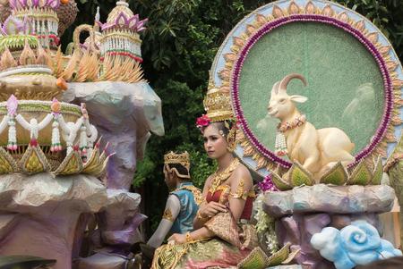manora: NAKORN SRI THAMMARAT THAILAND- October 11: Nora Show in religious ceremony, Native Art of Thailand on October 11, 2015 in Nakorn sri thammarat, Thailand.