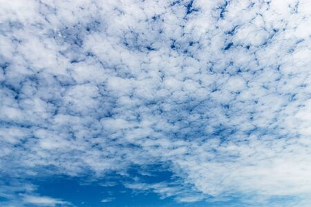 White of cirrocumulus cloud in blue sky.