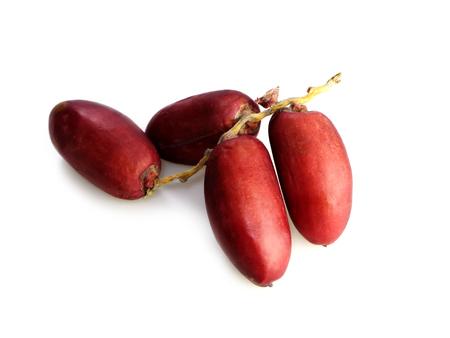 Frais palmier dattier rouge. (Phoenix dactylifera) Banque d'images - 83961746