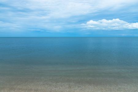 Quiet sea with blue sky. Stock Photo