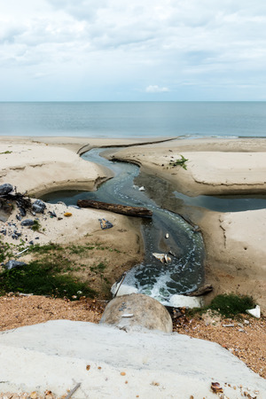 Waste water discharge into the sea