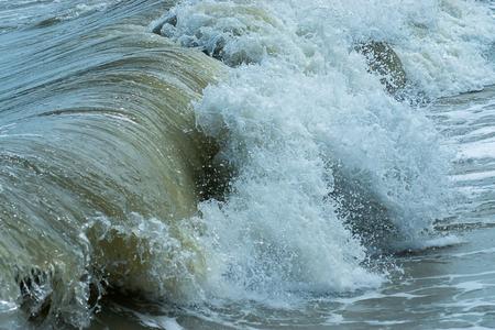 Heavy waves in the storm season. Stock Photo