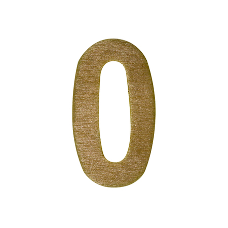 Wood number type on white background with clipping path. Archivio Fotografico