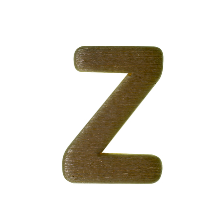 Wood type on white background with clipping path. Stock Photo