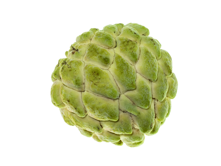 Close up Sugar apple fruit on white background.