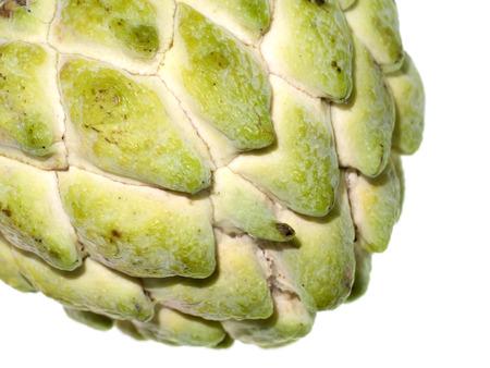 Close up Sugar apple fruit on white background.