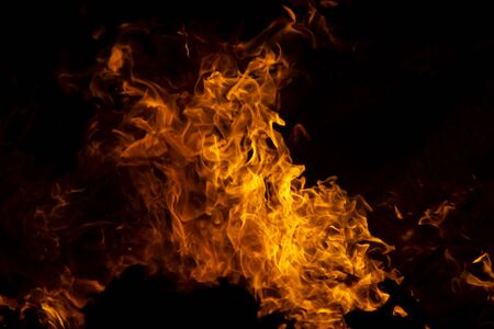The movement of the flames in the dark